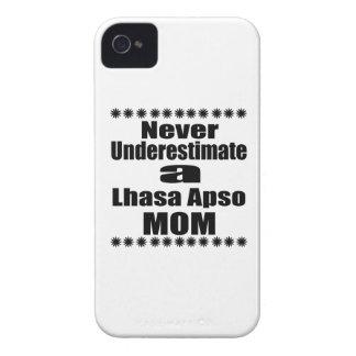 Nunca subestime a mamã de Lhasa Apso Capinha iPhone 4