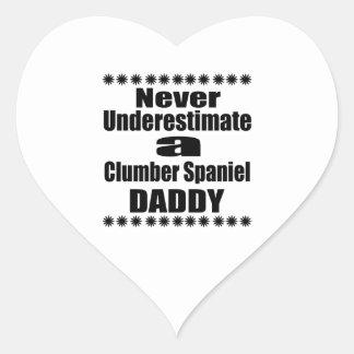Nunca subestime o pai do Spaniel de Clumber Adesivo Coração