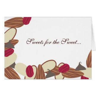 nut fruit chocolate baking bakery greeting note... greeting card