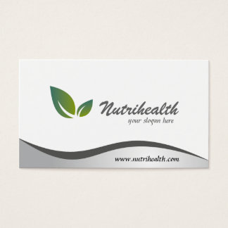 Nutricionista - cartões de visitas