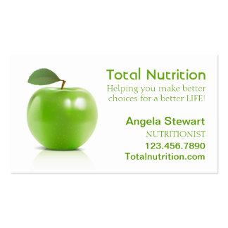 Nutricionista com Apple Cartão De Visita