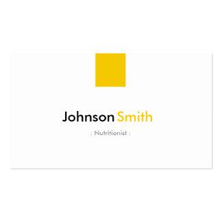 Nutricionista da dietista - amarelo ambarino cartão de visita