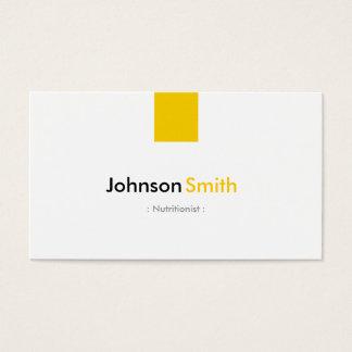 Nutricionista da dietista - amarelo ambarino cartão de visitas