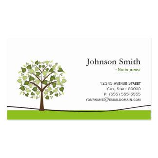 Nutricionista da dietista - árvore elegante do cartão de visita