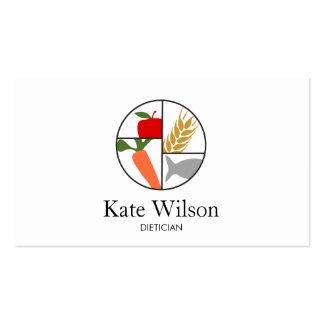 Nutricionista da dietista cartão de visita