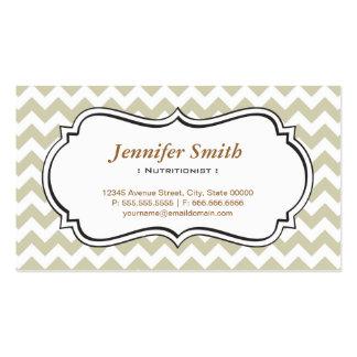 Nutricionista da dietista - jasmim simples de cartão de visita
