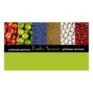 Nutricionista do verde amarelo/cartão saudável da  cartão de visita