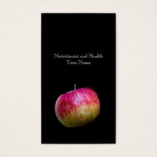 Nutricionista e saúde cartão de visitas