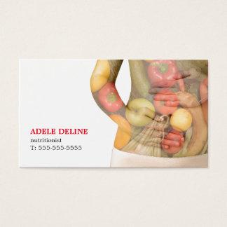Nutricionista limpo moderno do corpo dos vegetais cartão de visitas