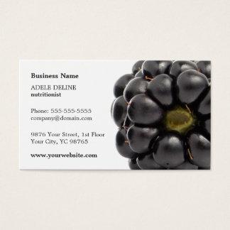 Nutricionista moderno original da fruta de cartão de visitas