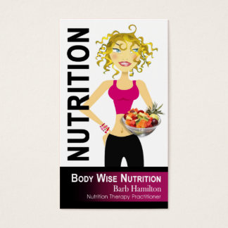 Nutricionista - ordem feita sob encomenda cartão de visitas