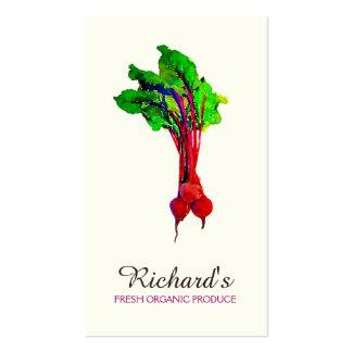 Nutricionista orgânico do vegetal das beterrabas cartão de visita