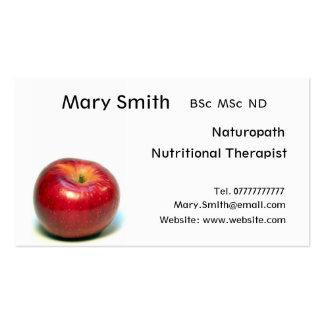 Nutricionista/terapeuta/Naturopath nutritivos Cartão De Visita