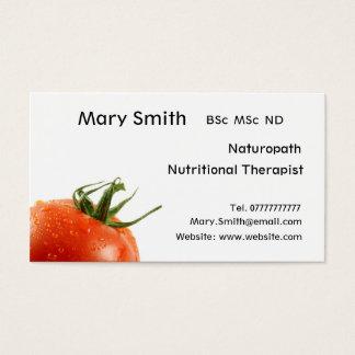 Nutricionista/terapeuta/Naturopath nutritivos Cartão De Visitas