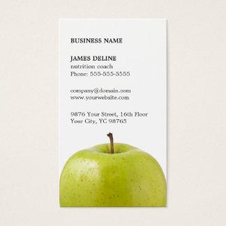 Nutricionista verde elegante minimalista de Apple Cartão De Visitas