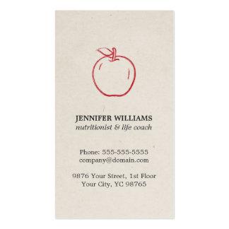 Nutricionista vermelho legal elegante mínimo de cartão de visita