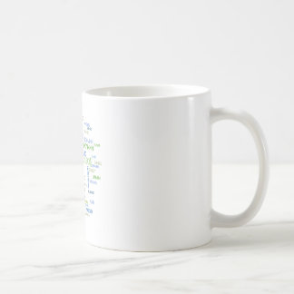 Nuvem da palavra dos astrónomos caneca de café