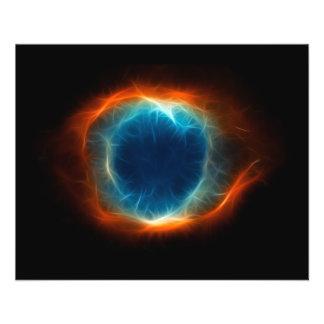 Nuvem do espaço da estrela da nebulosa da hélice flyer 11.43 x 14.22cm