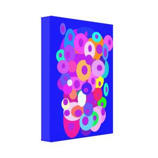 Nuvem dos círculos azuis impressão de canvas esticadas