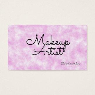 Nuvens cor-de-rosa do maquilhador cartão de visitas