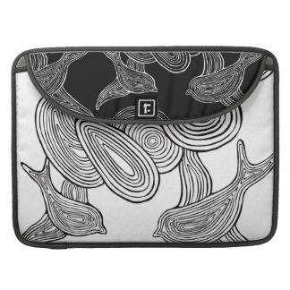 Nuvens do n dos pássaros bolsa para MacBook pro