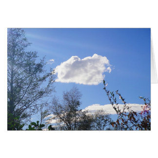 Nuvens do tempo justo do mapa do cumprimento, no cartão
