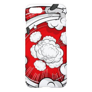 Nuvens vermelhas da luta do estilo cómico capa iPhone 7