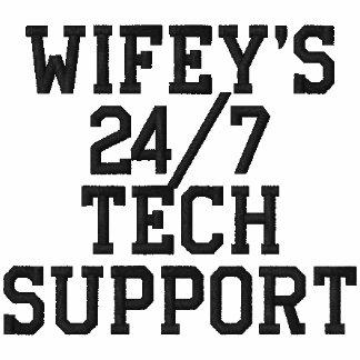 O 24/7 de polo bordado suporte técnico de Wifey