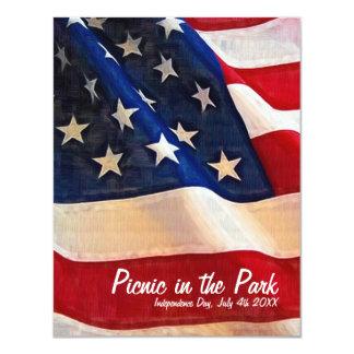 o 4ns do Dia da Independência do piquenique de Convite 10.79 X 13.97cm