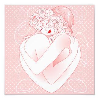 O abraço do amor do impressão da foto