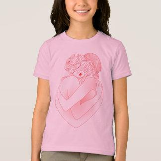 O abraço do amor do t-shirt