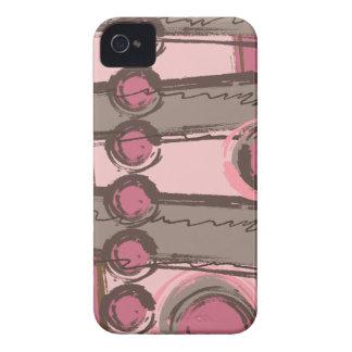 O abstrato circunda o rosa urbano Brown do Capa Para iPhone 4 Case-Mate
