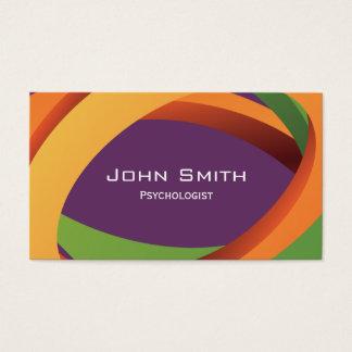 O abstrato curva o cartão de visita do psicólogo