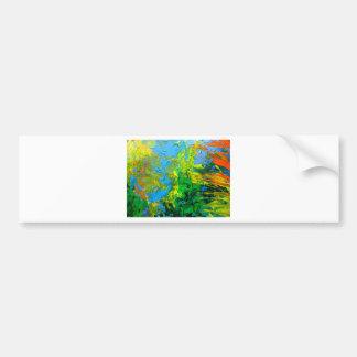 O abstrato da ideia texured a arte na laranja azul adesivo para carro