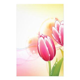 O abstrato floresce a tulipa morna da gema das cor papelaria