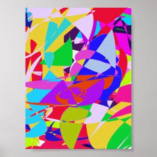 O abstrato ilumina a arte posteres