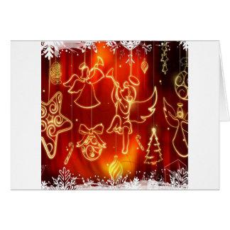 O abstrato refrigera uma janela festiva cartoes