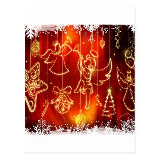 O abstrato refrigera uma janela festiva cartão postal