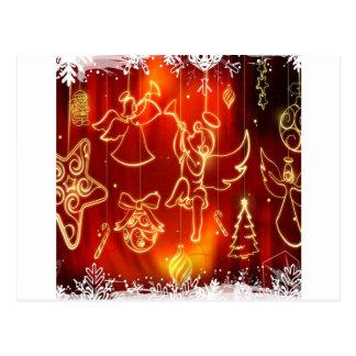 O abstrato refrigera uma janela festiva cartões postais