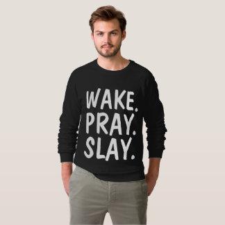 O ACORDAR PRAY MASSACRA t-shirt cristãos