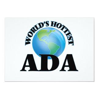 O Ada o mais quente do mundo Convite