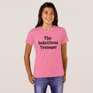 O adolescente rebelde, camiseta do humor da