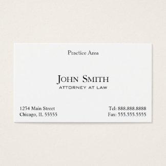 O advogado, elegante limpa II Cartão De Visitas