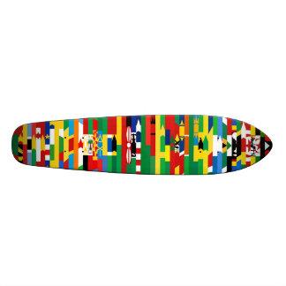 O africano embandeira o skate
