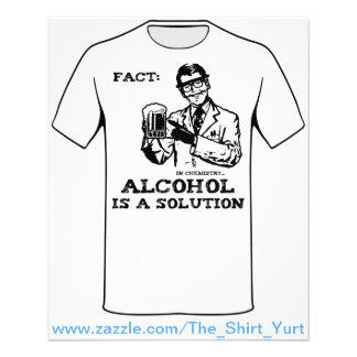 O álcool é uma solução na química flyer 11.43 x 14.22cm