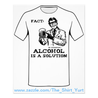 O álcool é uma solução na química panfleto personalizados