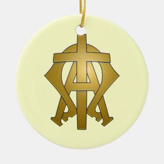 O alfa e o Omega Ornamento De Cerâmica