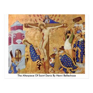 O Altarpiece do santo Denis por Henri Bellechose Cartão Postal