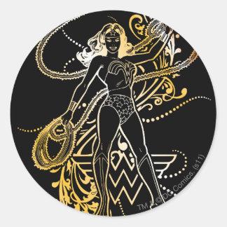 O amarelo da mulher maravilha desvanece-se adesivo