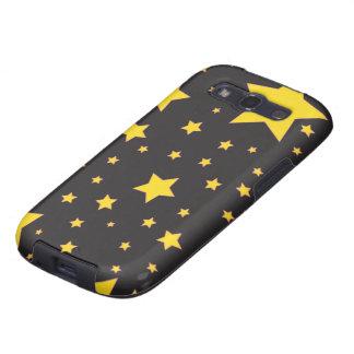 O amarelo stars a caixa da galáxia de Samsung Galaxy SIII Capas